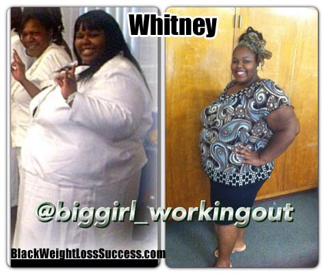 Whitney weight loss photos