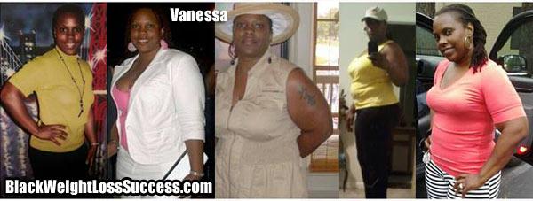 timeline Vanessa weight loss