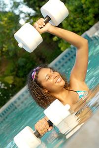 water aerobics exercise