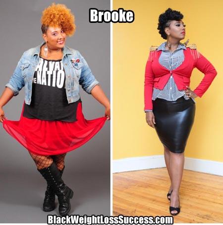 Brooke lost 100 pounds