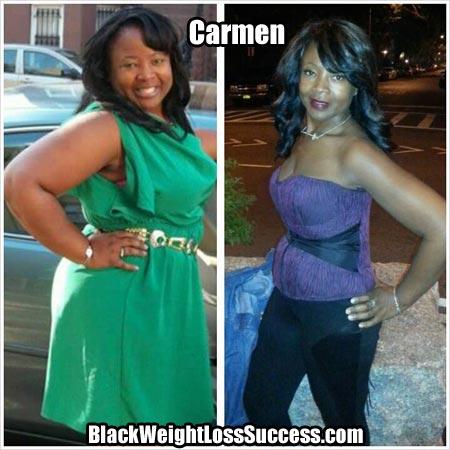 Carmen weight loss photos