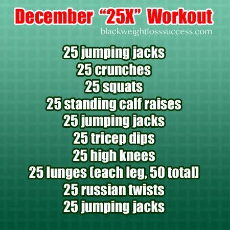 December 25X workout routine