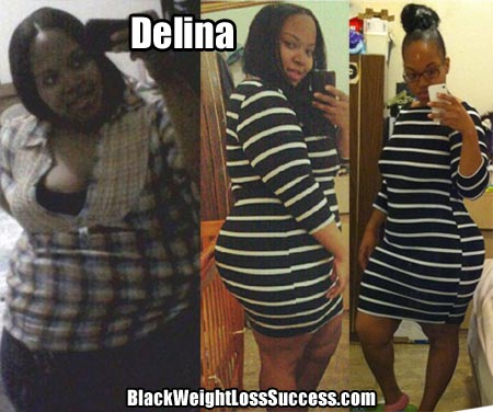 Delina lost weight