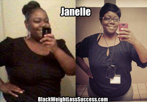 Janelle weight loss photos