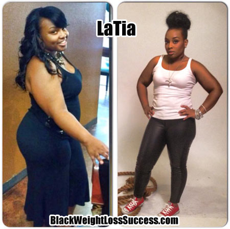 LaTia lost 36 pounds | Black Weight Loss Success