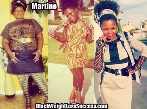 Martine weight loss photos