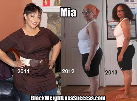 Mia weight loss photos