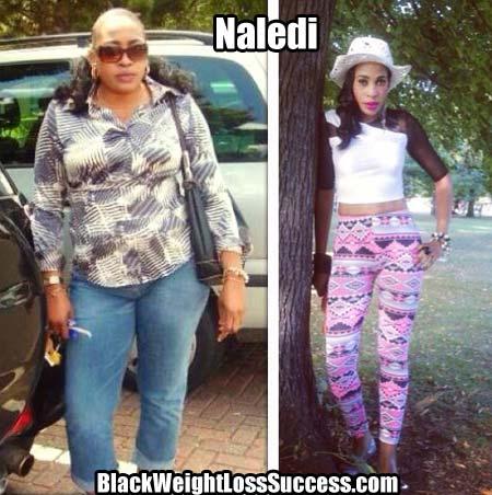 Naledi weight loss photos