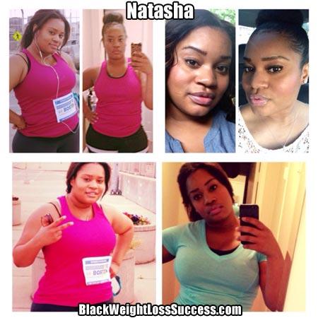 Natasha weight loss photos