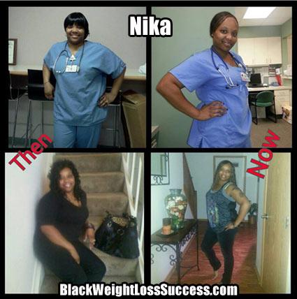 Nika weight loss photos
