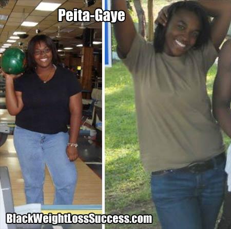 Peita Gaye weight loss story