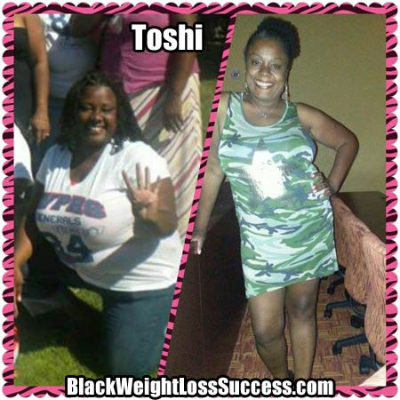 Toshi weight loss success story