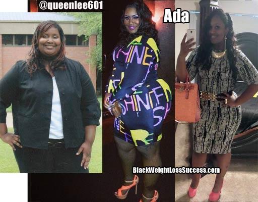 Ada's weight loss photos