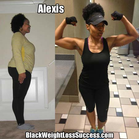 Alexis weight loss transformation