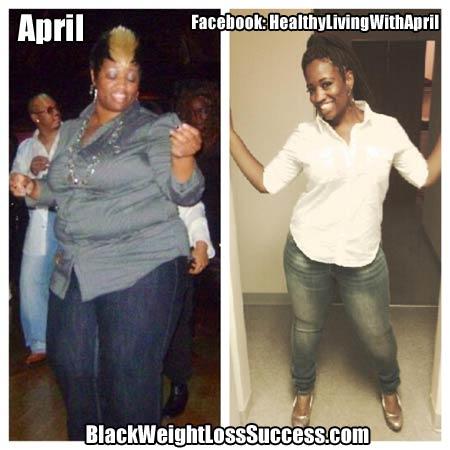 April weight loss photos