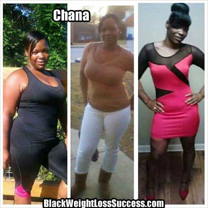 Chana before and after photo