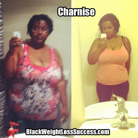 Charnise weight loss photos