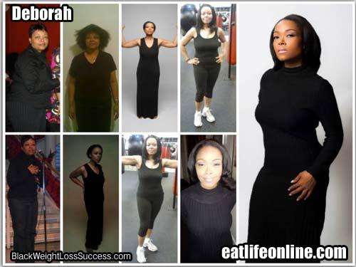 Deborah before and after photos