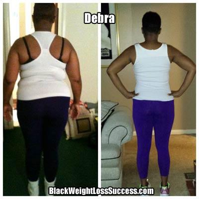 Debra weight loss photos