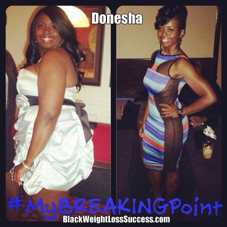 Donesha weight loss photos