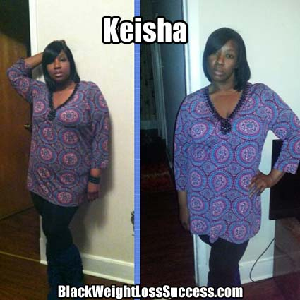Keisha before and after photos