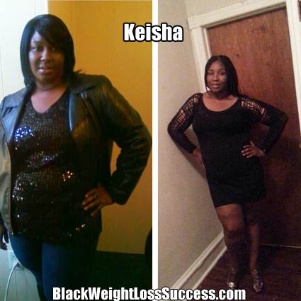 Keisha weight loss photos