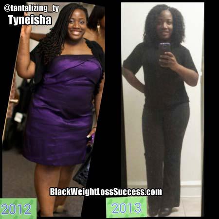 Tyneisha weight loss