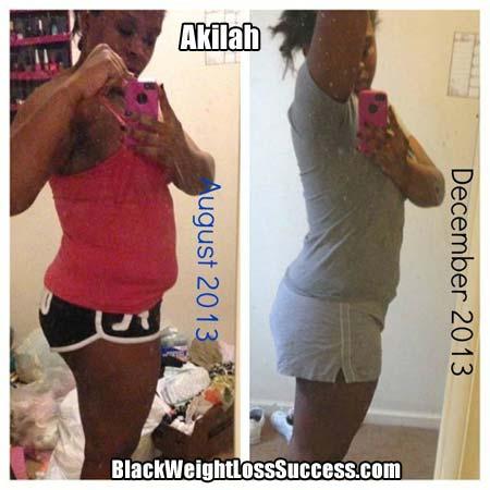 Akilah weight loss photos