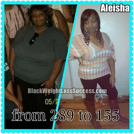 Aleisha before and after
