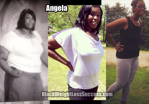 Angela lost 100 pounds