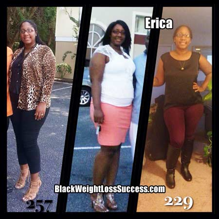Erica weight loss before and after