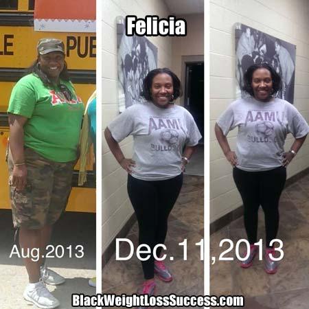 Felicia weight loss photos