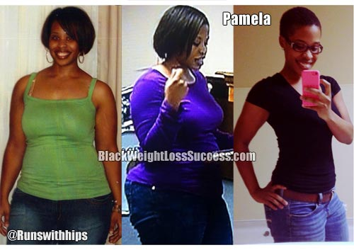 Pamela before and after weight loss