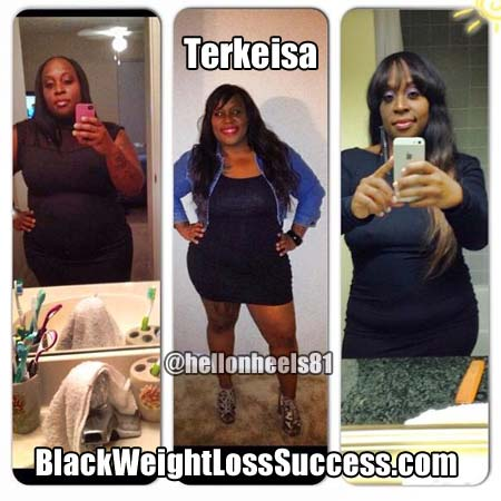 Terkeisa before and after weight loss