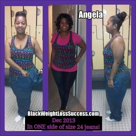 Angela before after