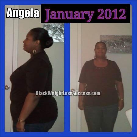 Angela before photo