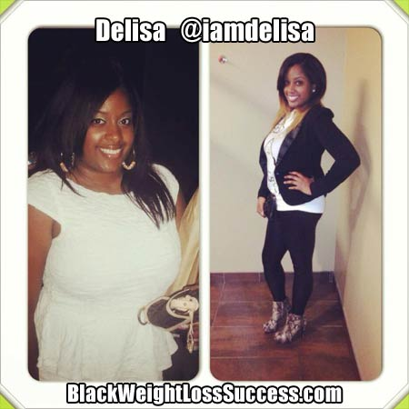Delisa before and after