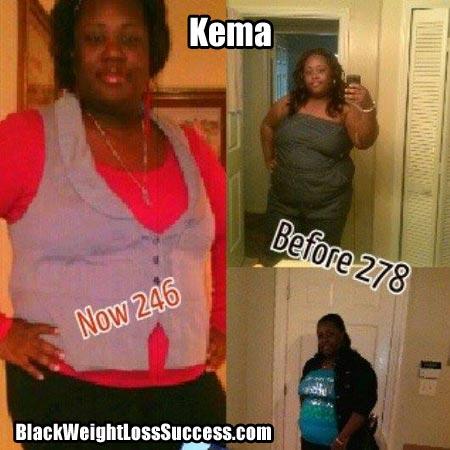 Kema lost weight