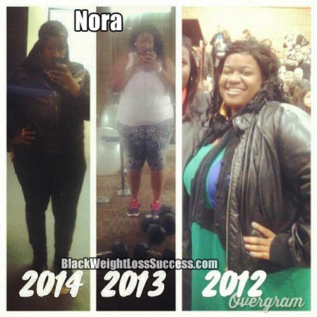 Nora before and after
