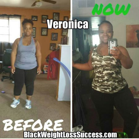 Veronica before and after
