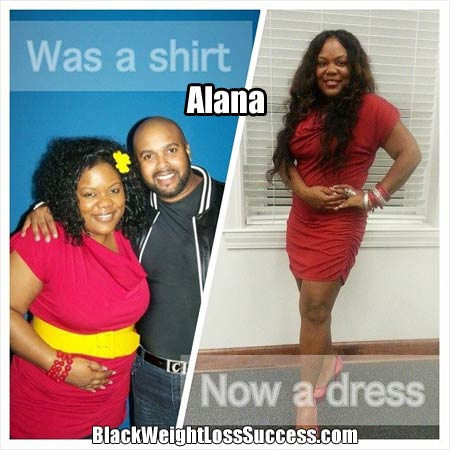 Alana before and after