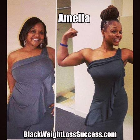Amelia before and after