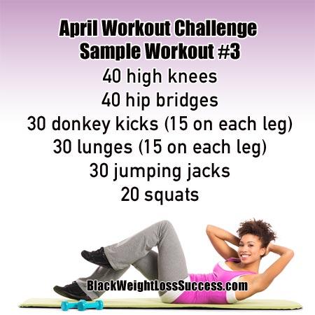 workout sample