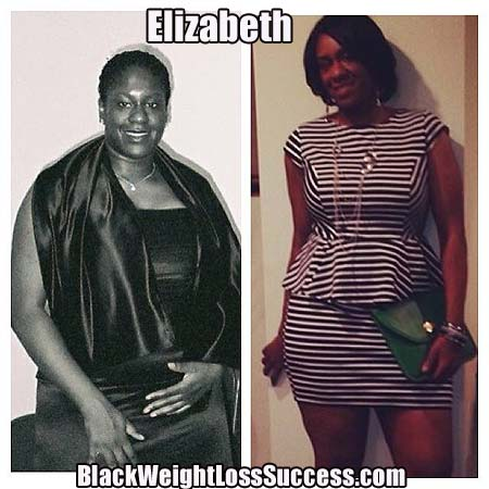 Elizabeth before and after weight loss