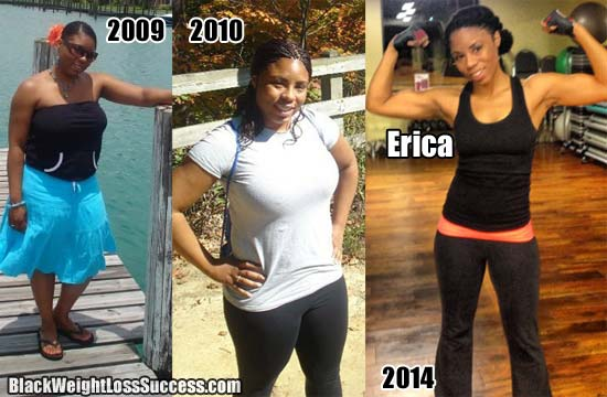 Erica lost 60 pounds | Black Weight Loss Success
