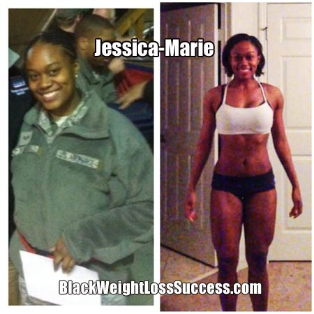Jessica-Marie weight loss transformation