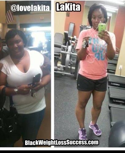 LaKita before and after