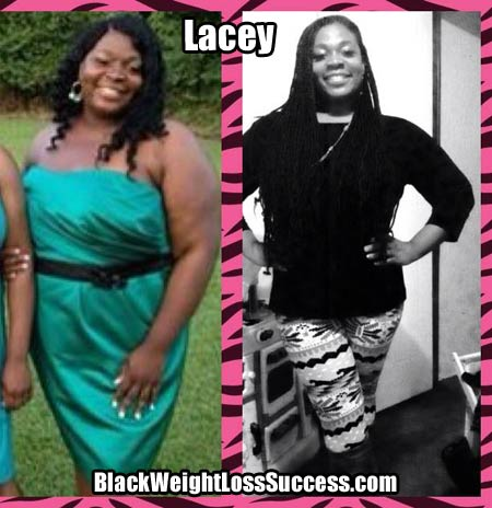 Lacey before and after