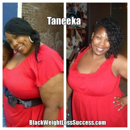 Taneeka before and after