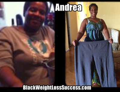 Andrea's weight loss